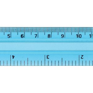 "6"" Pocket Ruler-Blue"