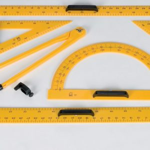 Chalkboard 45 Degree Protractor