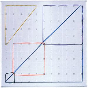 Clear-View Geoboards, 11 x 11 Pin Array, 11""