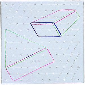 Clear-View Geoboards, Isometric, 11""