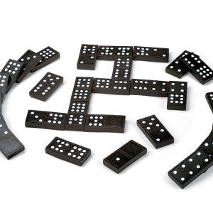 Double Six Wooden Dominoes, Set of 28