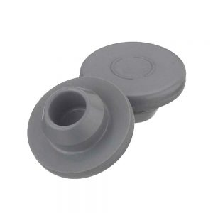 Rubber 13 mm Snap-On Style Stopper, Gray - Case of 1000