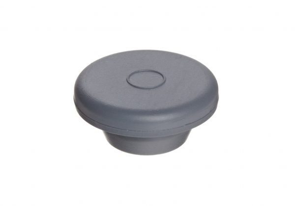 Rubber 20 mm Straight Plug Style Stopper, Gray - Case of 1000