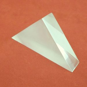 Prism Isosceles Acrylic Frosted One Side - Custom Size