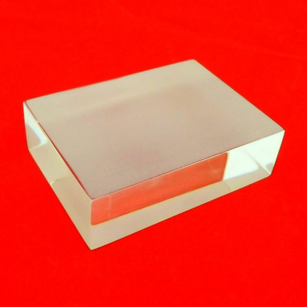Rectangular Acrylic Block Frosted One Side