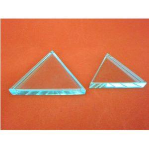 /0125/vetro ottico Equilateral Prism Ajax Scientific LI220/ 25/mm di lunghezza x 125/mm altezza