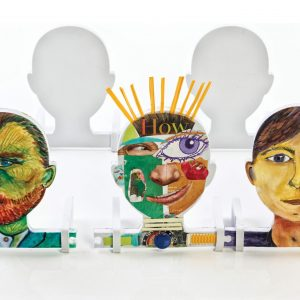 Linking Foam Faces, Set Of 5