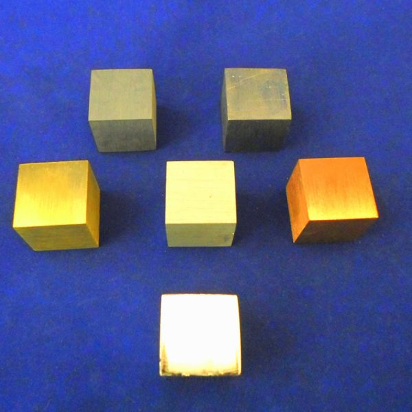 Density Cube Metal Set of 6 - 10 MM
