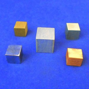 Equal Mass Metal Density Cube Set of 5