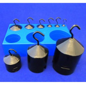 Hook Weight Economy Set of 9 in Plastic Block