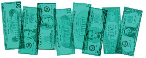 Overhead US Bills Set of 24