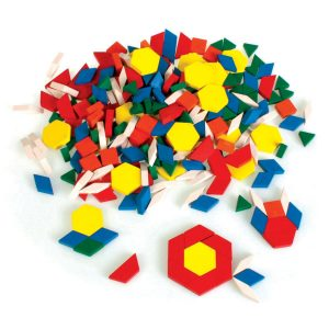Wooden Pattern Blocks, Set of 250