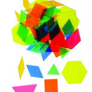 Transparent Pattern Blocks, Set of 49