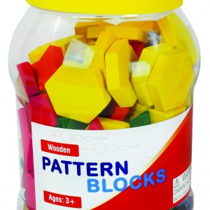 Wooden Pattern Blocks, 8 Sets of 250 in A Container