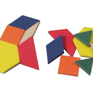 0.5 cm Foam Pattern Blocks in A Container, Set of 250