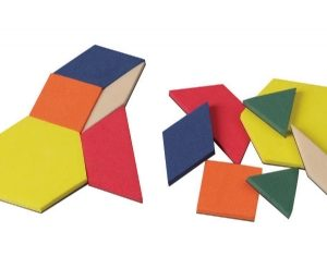 0.5 cm Magnetic Foam Pattern Blocks, Set of 200