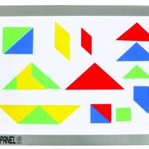 Transparent Tangrams-28 Pcs, Set of 4