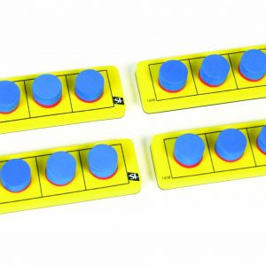 Magnetic Five Frames, Set of 4 Boards, Dual Color Counters