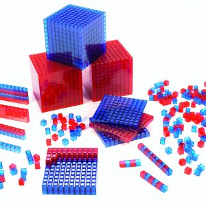 Clearview Base Ten Blocks, Interlocking Cubes, Red