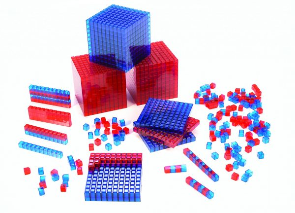 Clearview Base Ten Blocks, Interlocking Cubes, Red