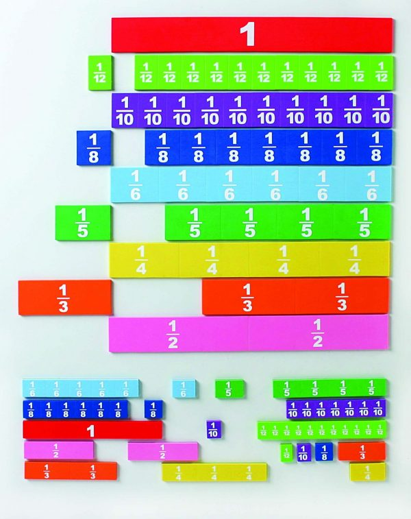 Student Magnetic Foam Fraction Tiles