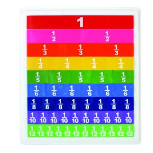 Opaque Fraction Tiles with Tray