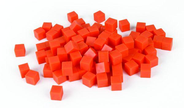 Base Ten, Orange/Unit Cube 1's (100) Non-linking