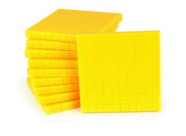 Base Ten, Yellow Flats 100's (100)