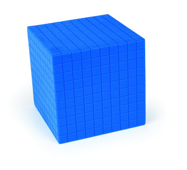 Base Ten, Blue Decimeter Cube 1000's (1)