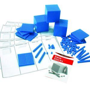 Base Ten Blue/Unit Cube 1's (100) Interlocking