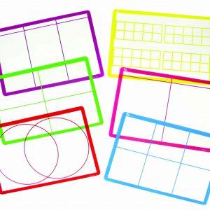 Transparent Sorting Mats Set of 6