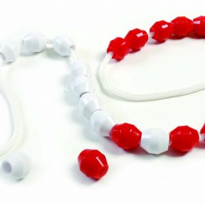 Rekenrek-Nfm 20 Large Plastic Beads with String