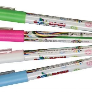 Neon Dry-Erase Markers - Pk 4 (White, Green, Pink 8 Blue)