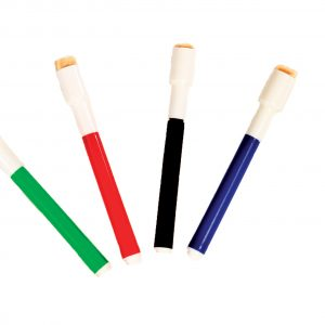 Dry-Erase Markers Pack of 4 (Red, Green, Blue & Black)