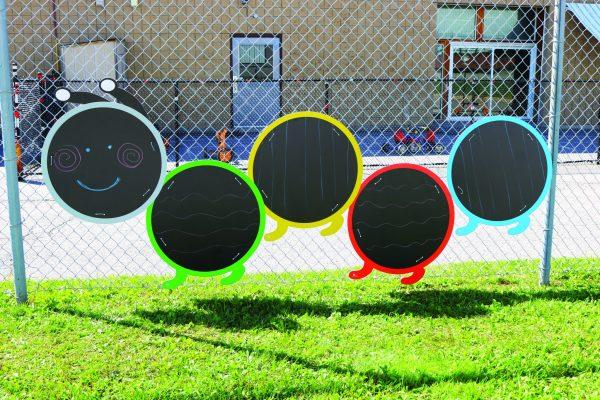 Outdoor Giant Chalkboard Caterpillar, 5Pcs