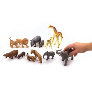 Safari Animals with Their Babies 12 Pieces/Container