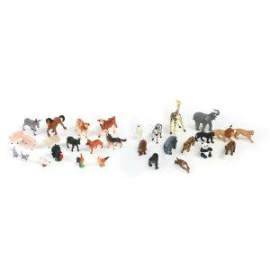 Safari And Farm Animals 30 Pieces/Container