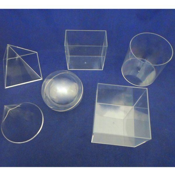 Geometric Solids Clear Plastic - Set of 6