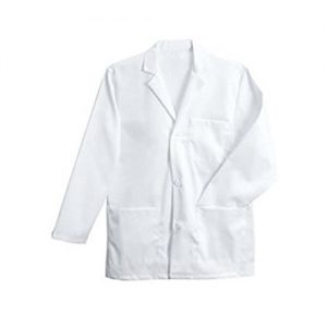 White Cotton Lab Coat- Medium